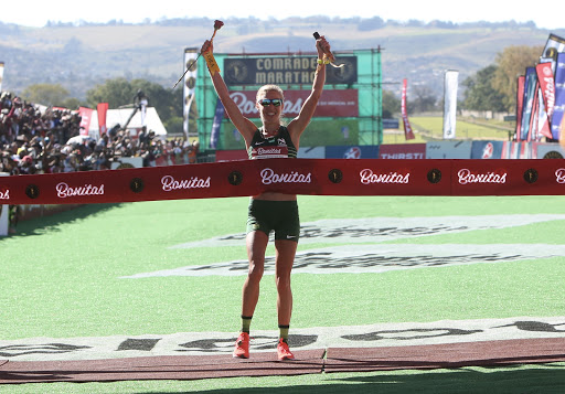 Gerda Steyn shatters the record books to win her first ever Comrades Marathon