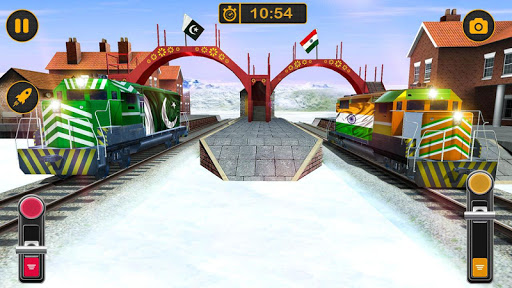 Modern Pak vs Indian Train Race: Azadi Train Game 1.0 screenshots 13