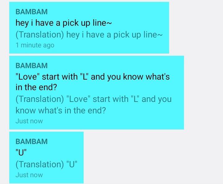 bambam pickup line