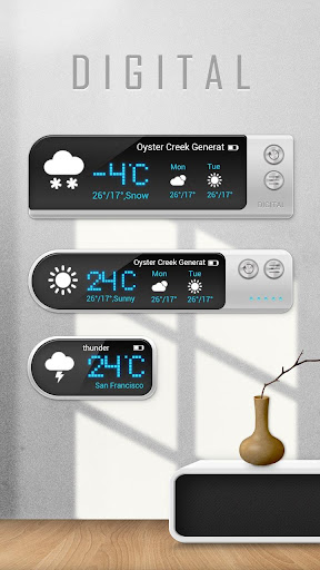 Digital Weather Widget Theme Screenshot