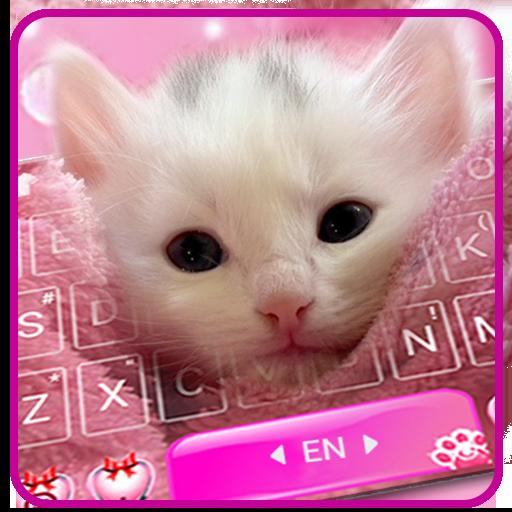 Cute White Kitty Keyboard Theme Icon
