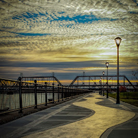 by Carole Boyles - City,  Street & Park  Historic Districts ( clouds )