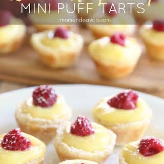 Lemon Raspberry Mini Puff Pastry Tarts.