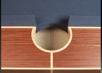 the middle pocket of the arc pool table