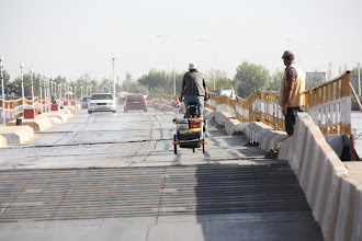 Photo: Day 161 -  Rog on Floating Bridge Over River Oxus