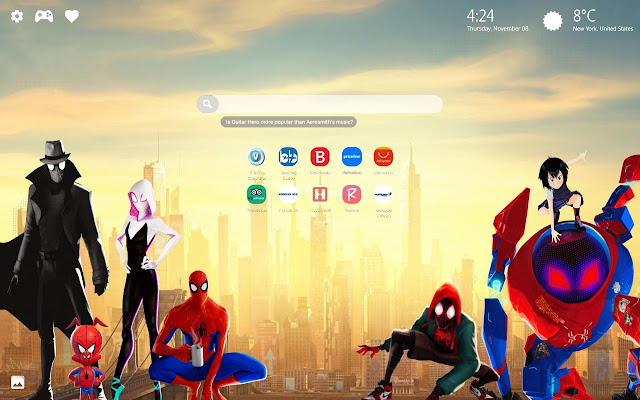 Spider Man Into The Spider Verse HD New Tab