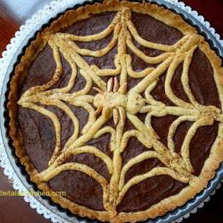Chocolate Spider Web Tart for Halloween