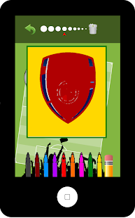 Football Logo Coloring Book screenshot 1