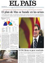 Photo: El plan de Artur Mas se hunde en las urnas y el PSC firma su peor resultado, en la portada de EL PAÍS, edición nacional, del lunes 26 de noviembre de 2012 http://cort.as/2rkt