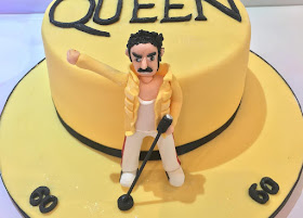 Queen themed birthday cake