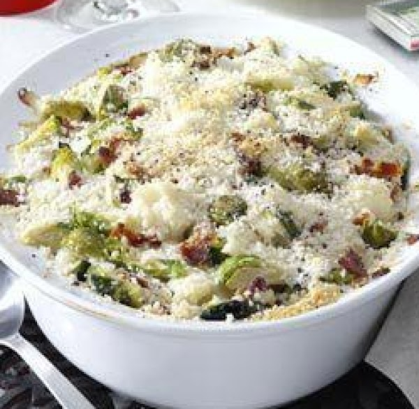Brussels Sprouts & Cauliflower Au Gratin Recipe