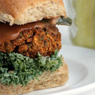 Kidney Bean and Kale BBQ Burger [Vegan, Gluten-Free].