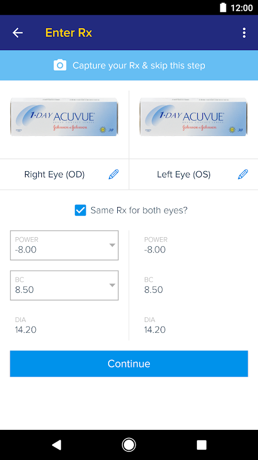 1800 Contacts - Lens Store- screenshot