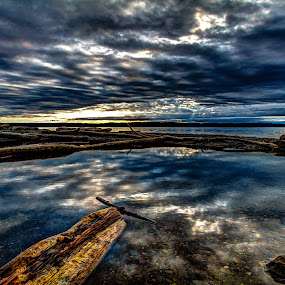by Nolan Hauke - Landscapes Waterscapes ( clouds, water, wood, hdr, beach, landscape )