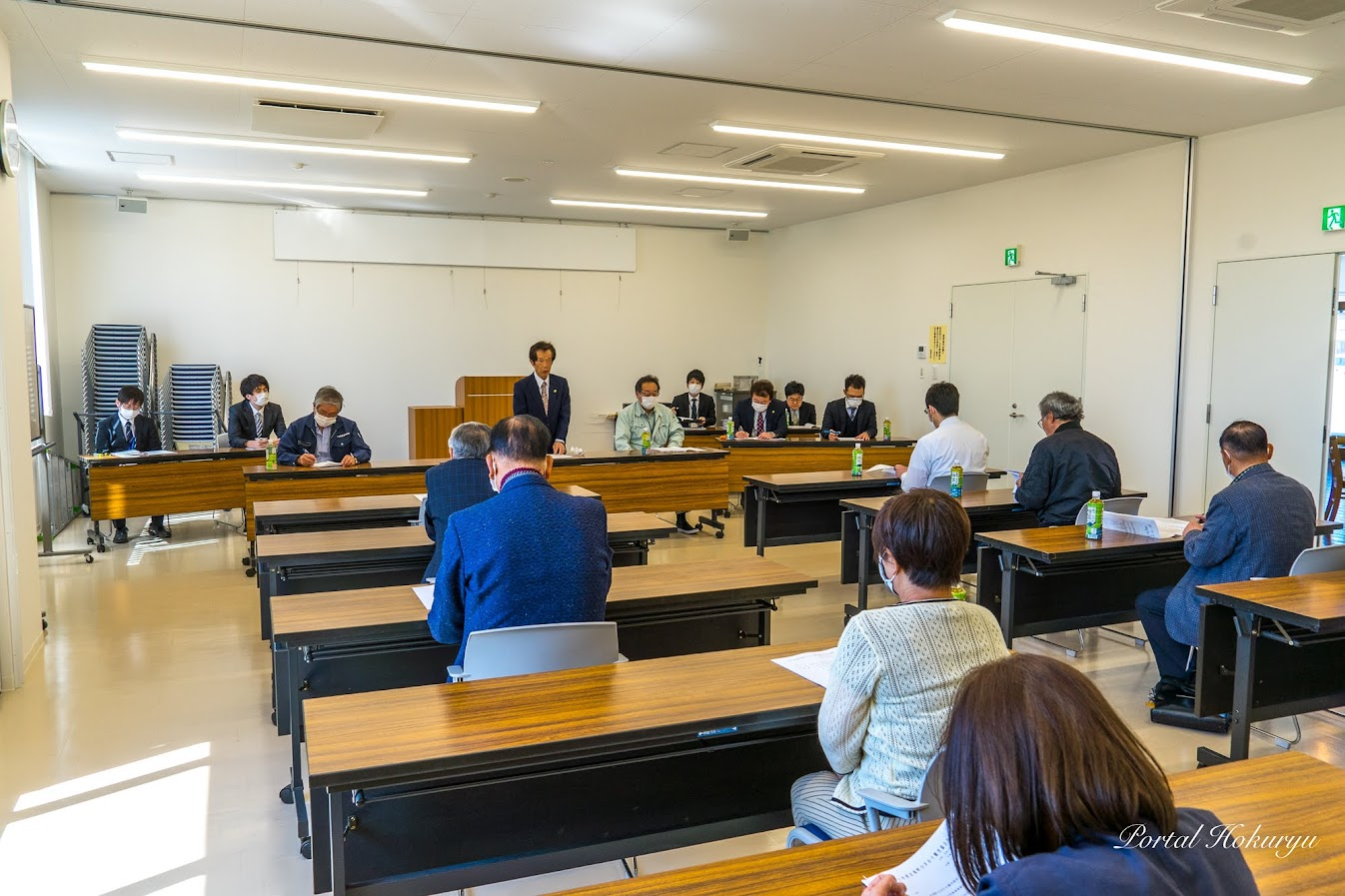 令和2年度北竜町ひまわり観光協会役員会(2020年4月30日・ココワ多目的スペース)