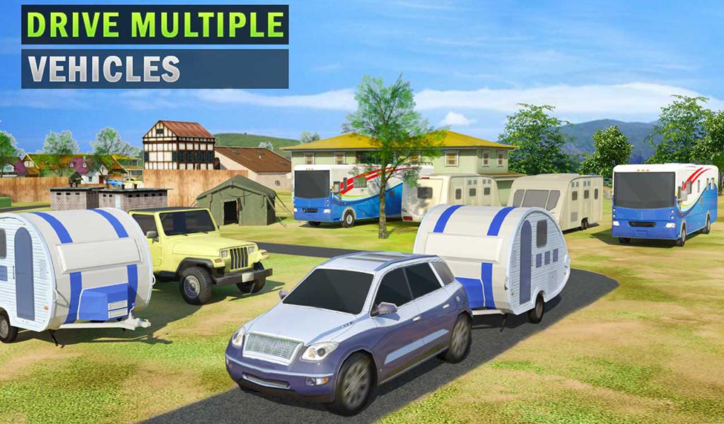 Camper Van Truck Simulator Cruiser Car Trailer 3d