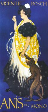 Cartel: «Anís del Mono», Ramón Casas, 1898.