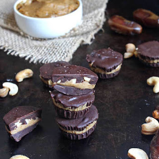 Cashew Caramel Chocolate Cups