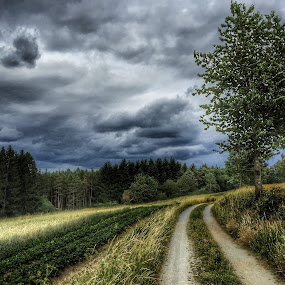 Dark clouds by Helga Be - Landscapes Weather ( minutes before a thunderstorm )