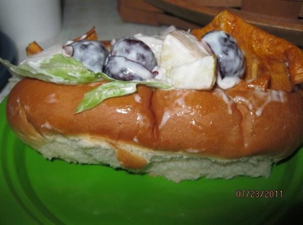 Turkey Salad Sandwich (pear,potato Chips & Cherries) Recipe