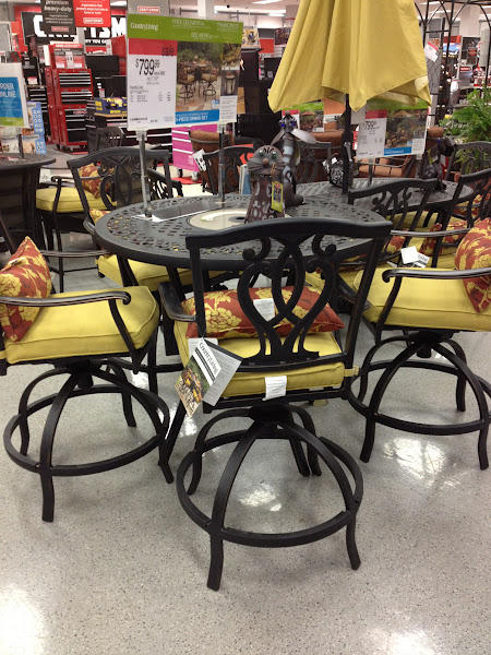 Photo: Next we stopped by the outdoor furniture and I absolutely love this set.