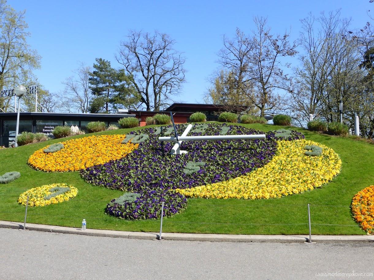 Flower clock, Geneva, Switzerland
