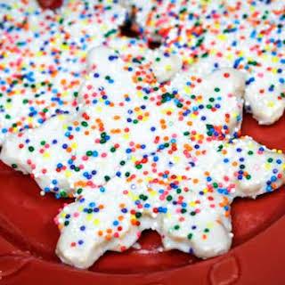 Almond Flour Sugar Cookies.