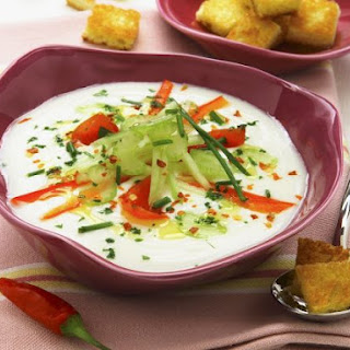 Chilled Soup with Salad