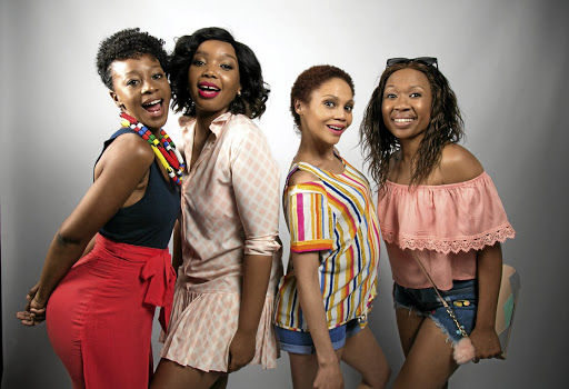The all-female ensemble cast of 'Baby Mamas' is made up of Salamina Mosese, Thembisa Mdoda, Kay Smith and Dineo Ranaka.