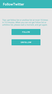 UnFollow For Twitter - náhled
