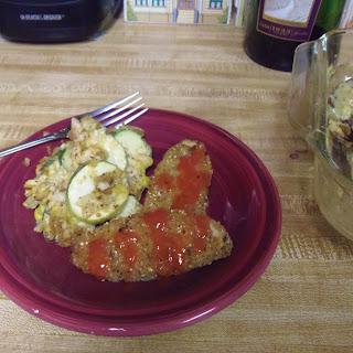 Zucchini, Squash and Corn Casserole (vegan)