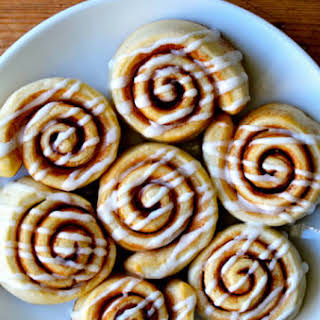 Pizza Dough Cinnamon Rolls.