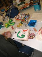 Photo: Student working on Art Journal.