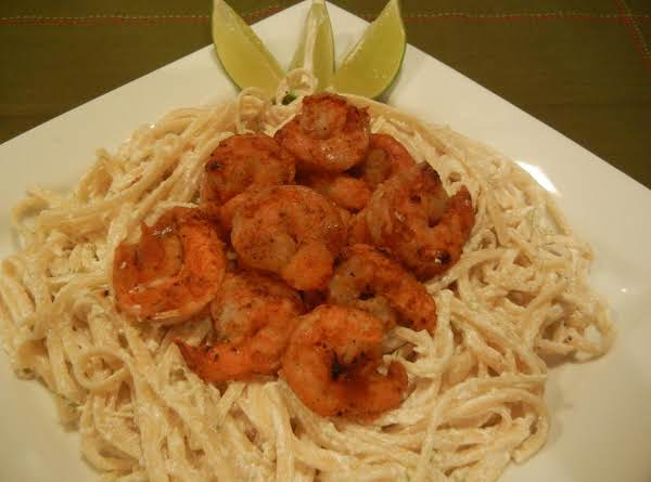 Firecracker Shrimp With Cool Creamy Lime Linguine