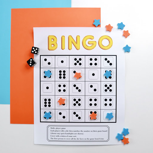 Dice Bingo Game for Kids