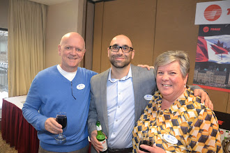 Photo: Rod Potter (PP), Georges Maamari (Chapter President), Cathy Godin (PP)