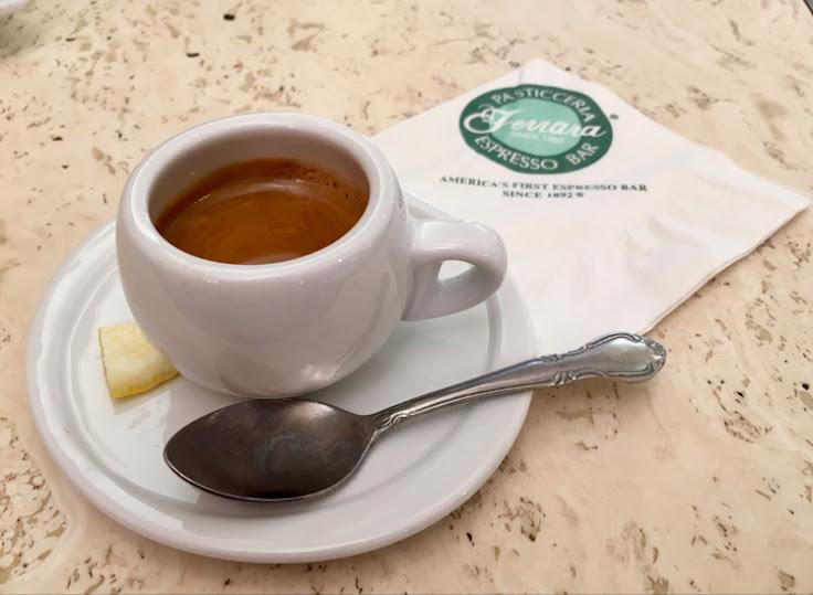 The artful shot of espresso at Ferrara.
