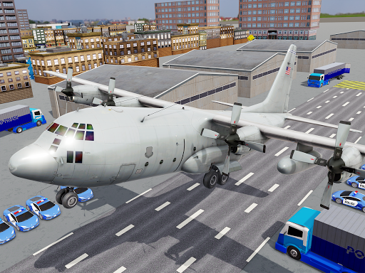 US Police Transporter Plane Simulator 2.1 screenshots 14