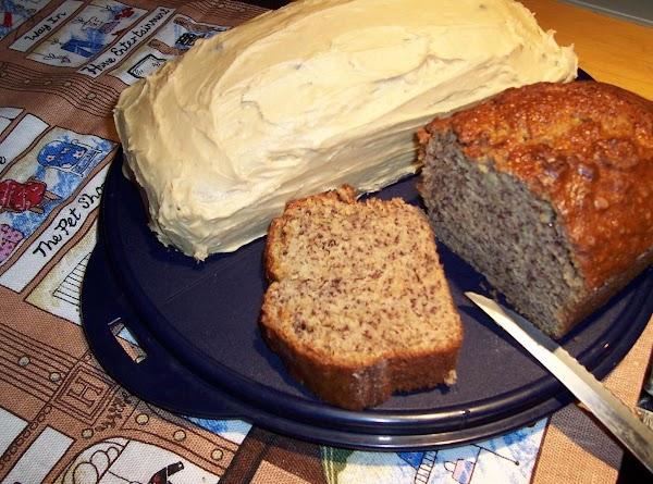 Banana Cake W/ Peanut Butter Frosting Recipe