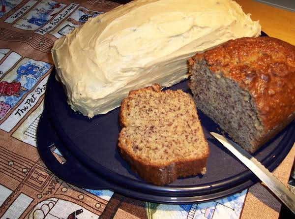 Banana Cake W/ Peanut Butter Frosting Recipe