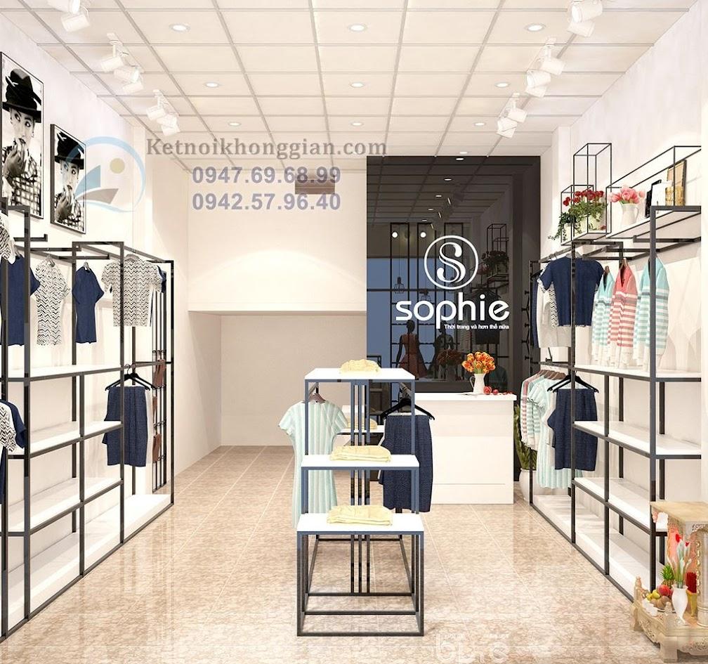 Thiết kế shop thời trang phong cách hiện đại