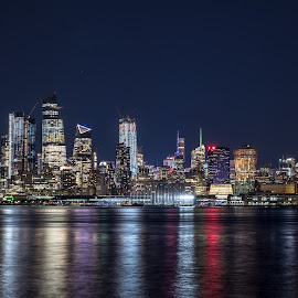 NYC at Night by Vishahan Iyer - City,  Street & Park  Night