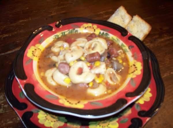 South West Tortellini Soup