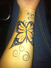 Photo: Butterfly body paint by Tess, Long Beach. Call to Book Tess at 888-750-7024