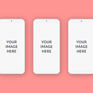 Triple Phone Mockup - Instagram Post Template