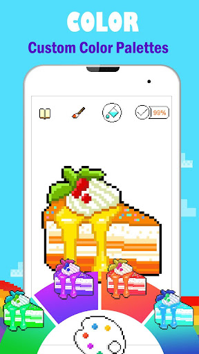 PixPanda - Color by Number Pixel Art Coloring Book 3.4 screenshots 6