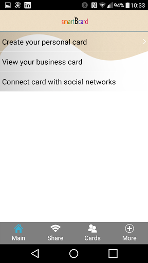 smartBcard - business cards 2.9.6 screenshots 2