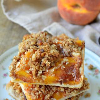 Peach Crumble Pie Bars