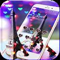 Paris tower Theme Neon City icon