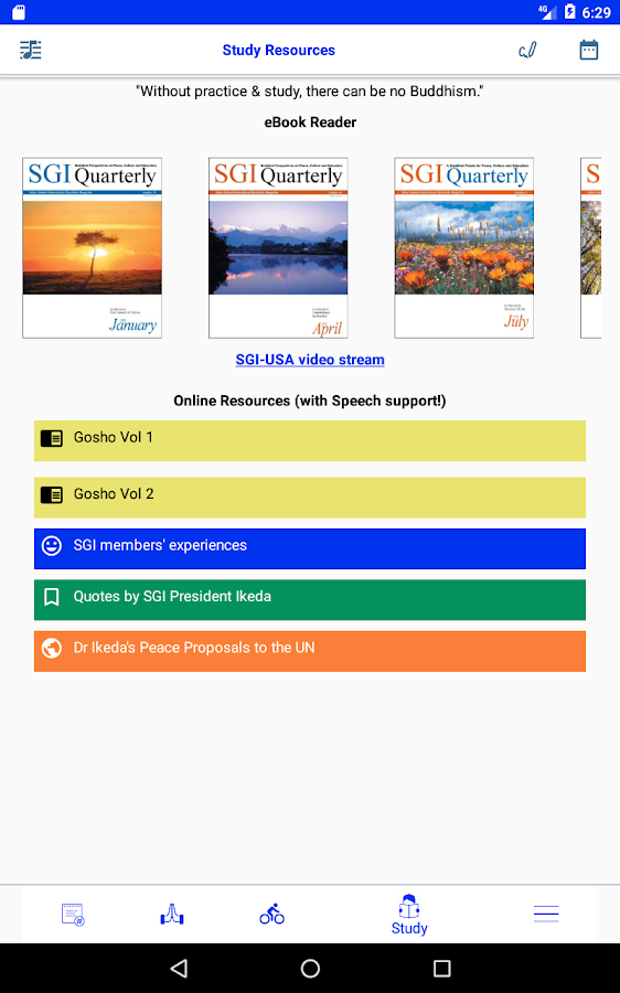 BodhiBuddy (SGI members)- screenshot